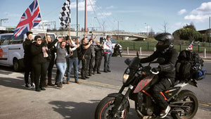 Women motorcyclists stage global relay to fight for equality