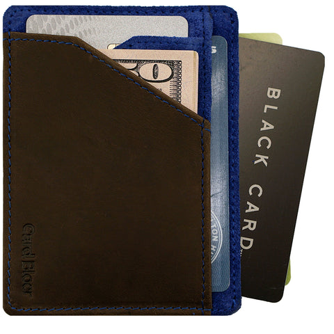 RFID Blocking  Card Holder Leather Wallet