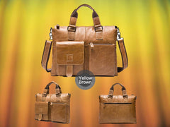 Yellow Brown Briefcase