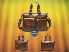 Red Brown Briefcase
