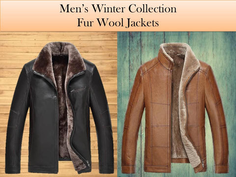 Fur Collar Men's Leather Jacket