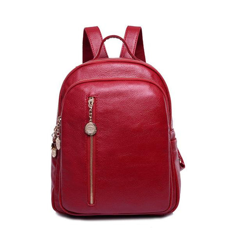 LEATHER BACKPACK WEEKEND BAG GIRLS SCHOOL BAG
