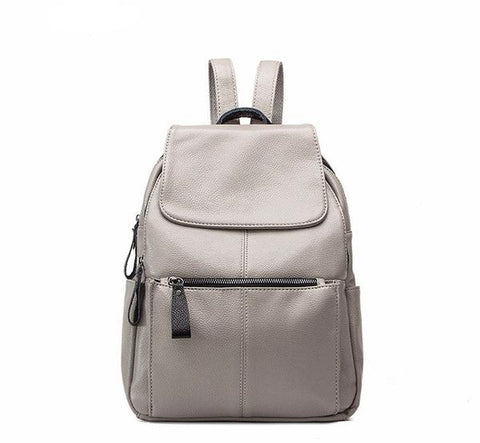 LEATHER BACKPACK FOR SCHOOL GIRLS AND LADIES