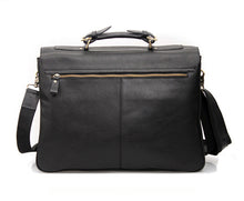 "Men's Fashion Genuine Leather Briefcases 15"" Laptop Handbag"