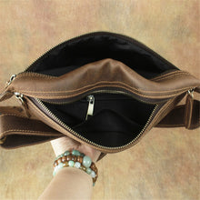 Fanny Pack Unisex Waist Bag Genuine Leather Phone Belt Bag Hip Purse Case