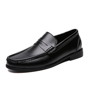 Men Loafers Shoes Soft Genuine Leather Moccasins Size 39-46