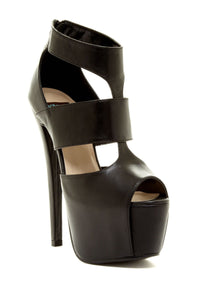 REXIE Leather High Heel Sandal Women's Fashion Trend