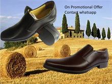 Genuine Leather Shoes Men's Casual Slipon Comfortable Black Brown