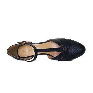 Womens Fashion Casual Sandals Luxe Peta (Black)