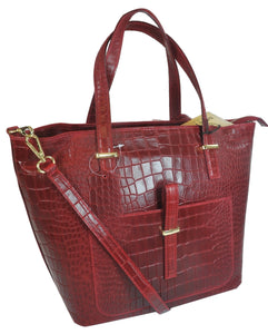 Misty U.S.A. 100% Genuine Cowhide Ladies Leather Handbags Made in Italy Red