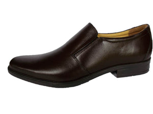 Genuine Leather Shoes Mens Fashion Slipon Loafer Black Brown