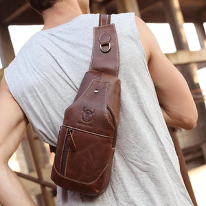 Casual Fanny Waist Pack Pouch Travel Hip & Chest Bag Vintage Men's Crossbody Bags