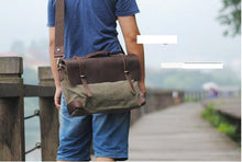 Men's Fashion Genuine Leather Messenger Bag Shoulder bag Crossbody Bag Tote Handbag
