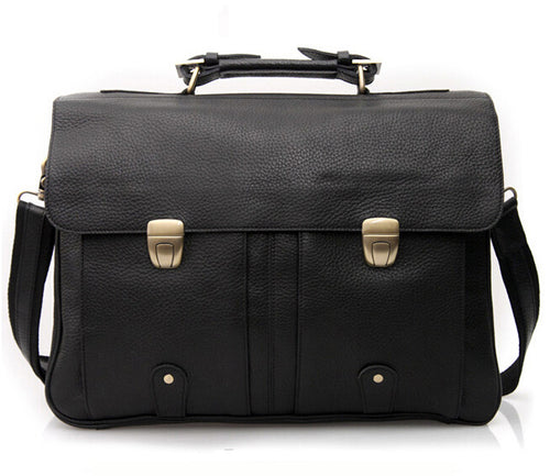 Men's Fashion Genuine Leather Briefcases for 15