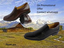 Genuine Leather Shoes Mens Fashion Toecap Slipon Loafer Black Brown