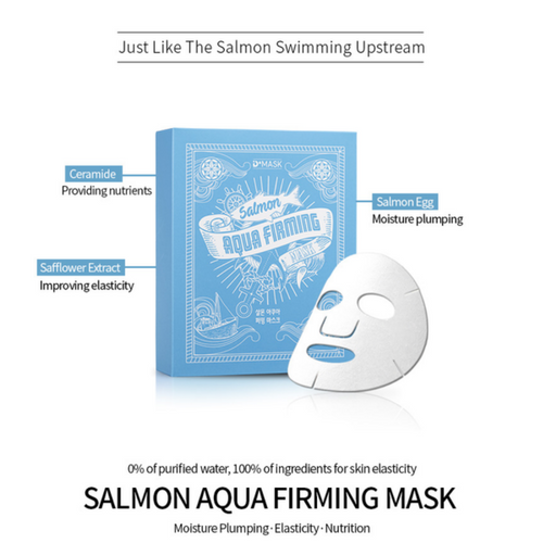 Salmon Aqua Face Mask Natural Fibers Sheet (10 Pack), Mask, [product_vendor, ]- Atria Skin