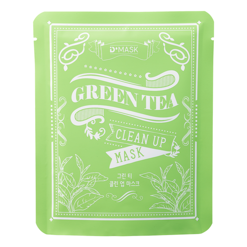 Green Tea Clean Up Face Mask Natural Fibers Sheet (10 Pack)