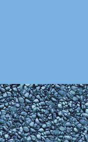Blue Wall with Pebble bottom Liner (Overlap Only)(Select Size)