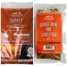 Traeger Pellets Turkey with brine kit