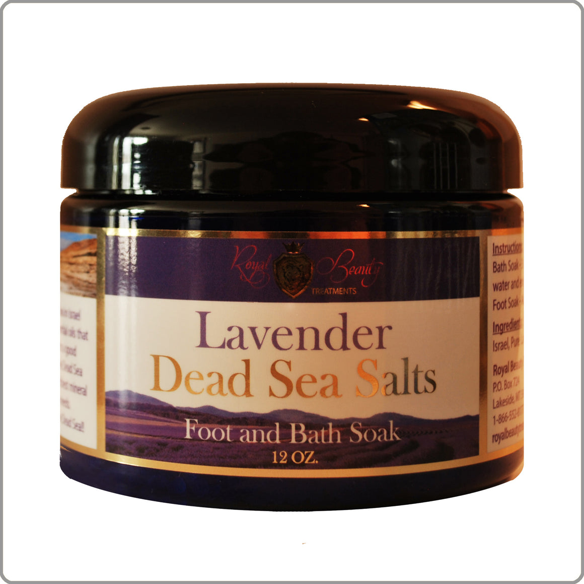 New 12oz. Lavender Dead Sea Salts