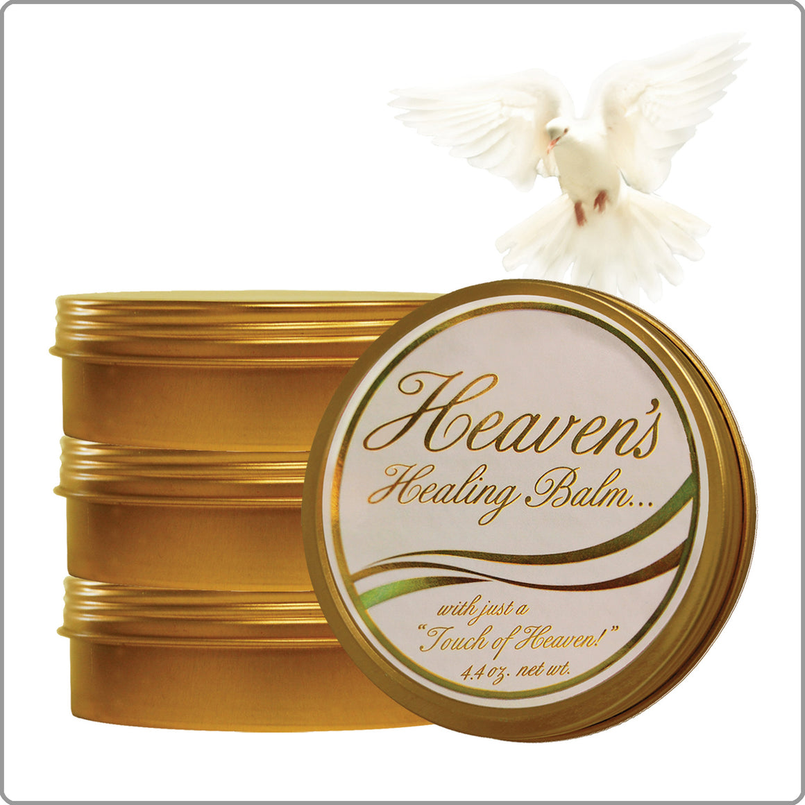 4-Pack Heaven's Healing Balm 4 oz. tins with FREE SHIPPING!