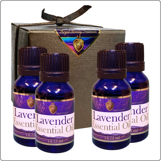 4 - Pack Organic Lavender Essential Oil .5 oz with FREE SHIPPING!