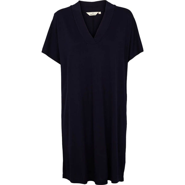 Navy KATE dress i viskose fra Basic Apparel