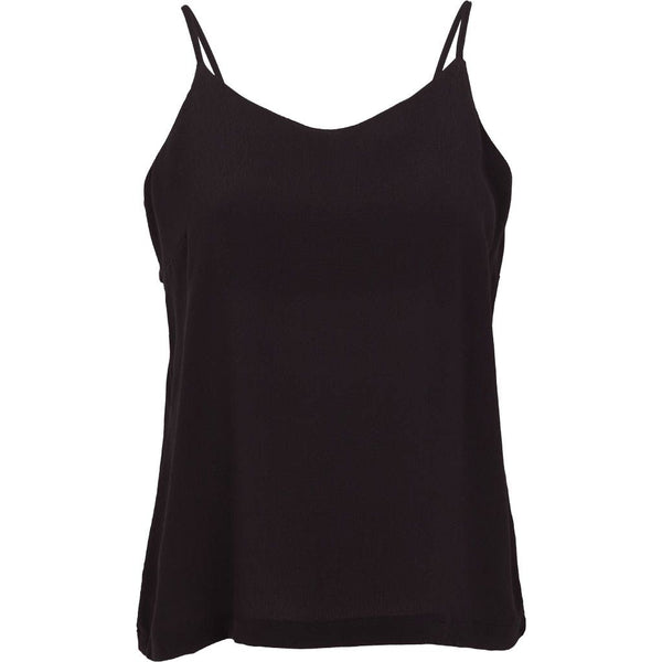 TYRA loose fit top i sort fra Basic Apparel