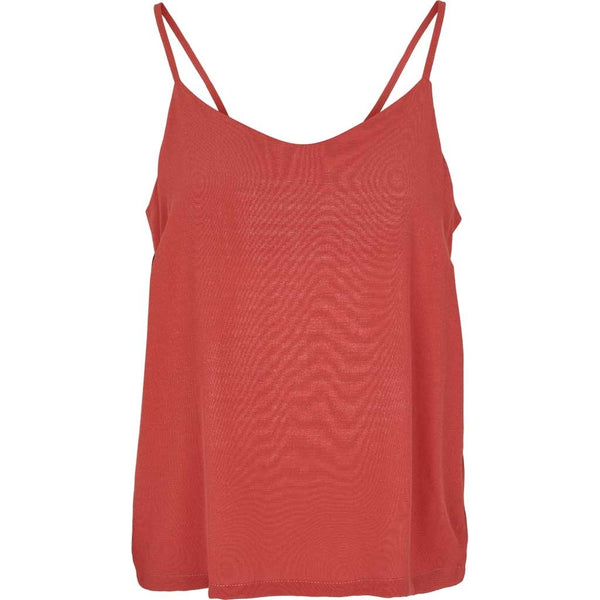 TYRA loose fit top i koral (mineral red) fra Basic Apparel