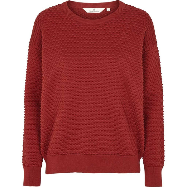 Vicca sweater i rød loose fit strik fra basic apparel