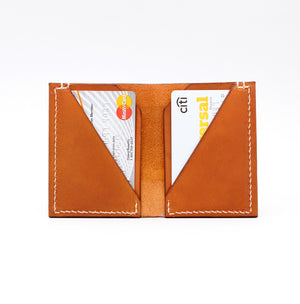 DOUBLE POCKET FOLD WALLET IN NATURAL