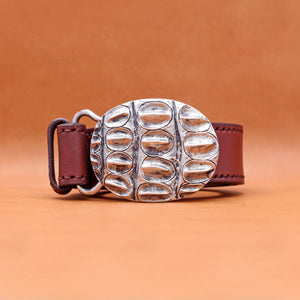 SILVER PLATED EXOTIC BUCKLE