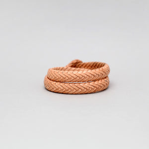 DOUBLE WRAP BRAIDED LEATHER BRACELET IN NATURAL