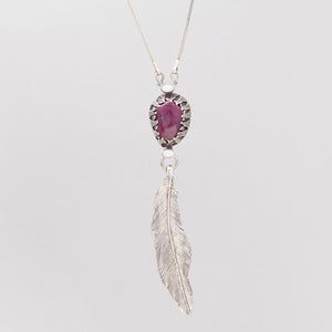 AFRICAN RUBY FEATHER PENDANT