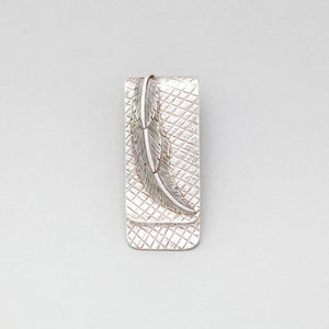 FEATHER MONEY CLIP IN STERLING SILVER