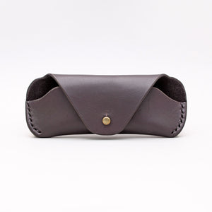 SUNGLASSES CASE IN BLACK LEATHER
