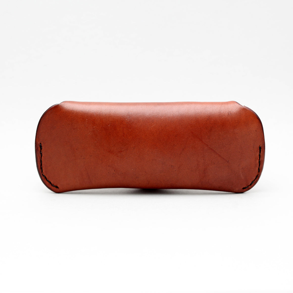 SUNGLASSES CASE IN DARK BROWN LEATHER