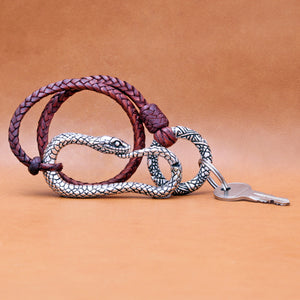 SILVER PLATED SNAKE MOTIF CARABINER