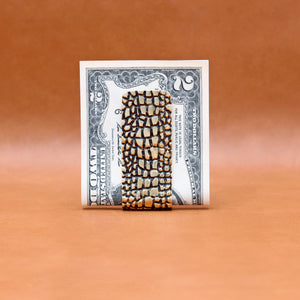 REPTILE PATTERN MONEY CLIP