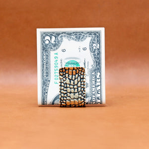 CROCODILE PATTERN MONEY CLIP