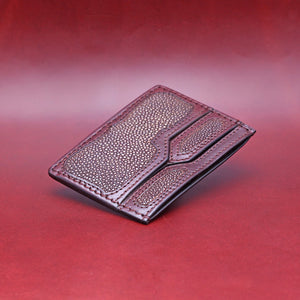 TRIPLE POCKET EXOTIC WALLET IN BROWN