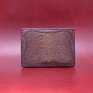 TRIPLE POCKET STINGRAY WALLET IN BROWN