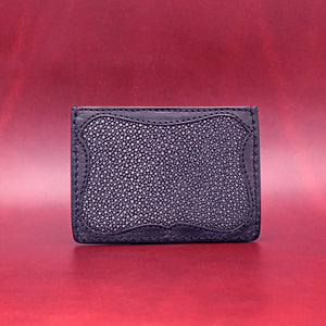 TRIPLE POCKET EXOTIC WALLET IN BLACK
