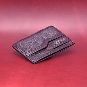 TRIPLE POCKET STINGRAY WALLET IN BLACK