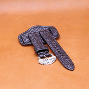 EXOTIC WATCH STRAP IN DARK BROWN 22MM LUG