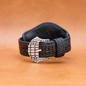 LIZARD WATCHSTRAP IN BLACK 22MM LUG
