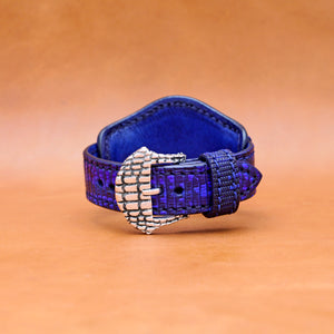 LIZARD WATCHSTRAP IN INDIGO 22MM LUG