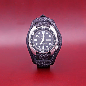 EXOTIC WATCH STRAP IN BLACK