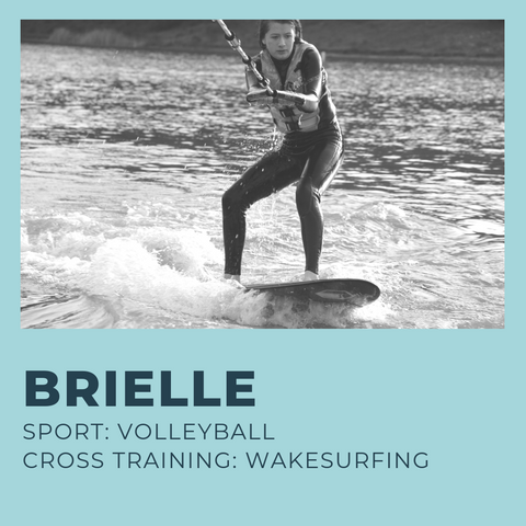13-year old Brielle is a natural teen athlete and plays every sport exceptionally well. She play volleyball and prefers to cross train with wakesurfing to give her upper body muscles a break and work her lower body.