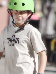 Ohana Board Shop T-Shirt, Khaki (Youth)